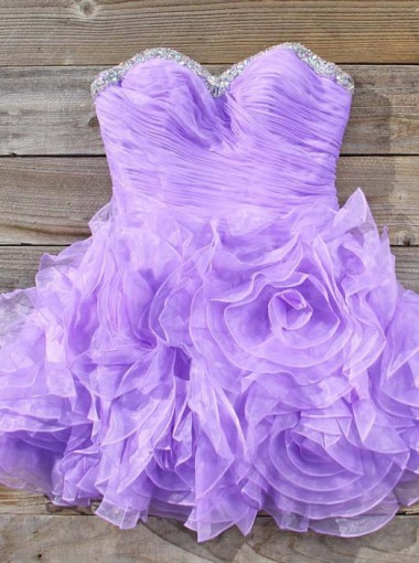 Simple-dress Elegant A-line Strapless Beading Mini Lavender Homecoming Dresses/Sweet 16 Dresses/Cocktail Dress