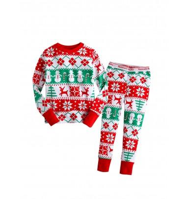 Red Deer kids' Christmas Pajamas Sets