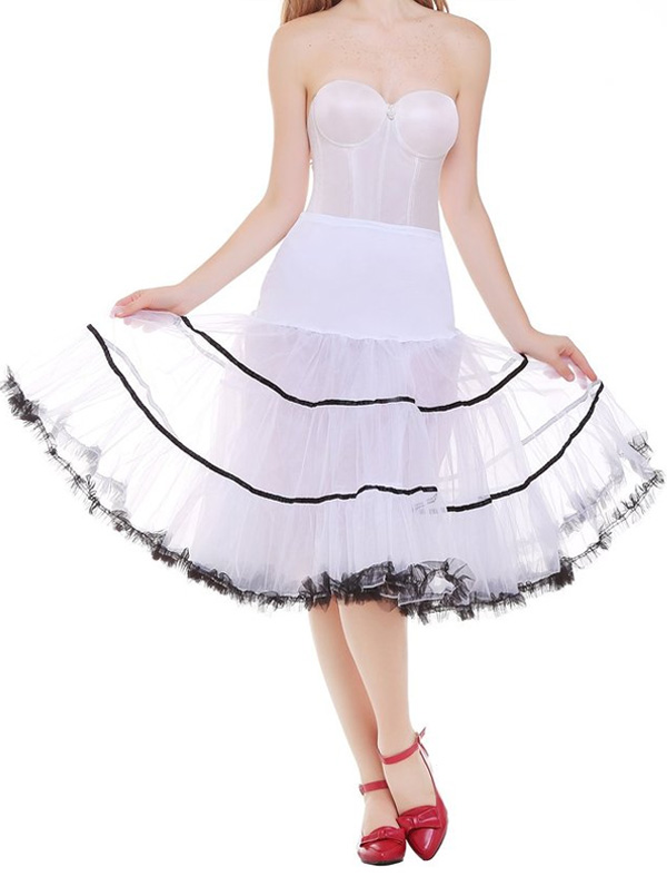 Women's Vintage 1950s Puffy Rockabilly Petticoats Tulle Slips thumbnail