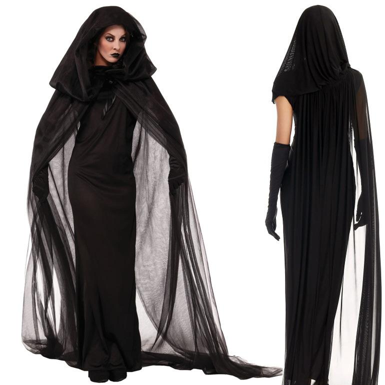 Women\u0027s Black Witch Costume for Halloween