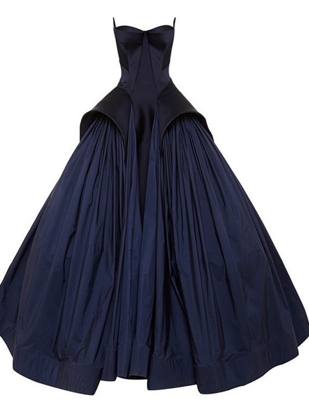 Ball Gown Prom Dress/Evening Dress - Navy Blue Strapless Ruched фото