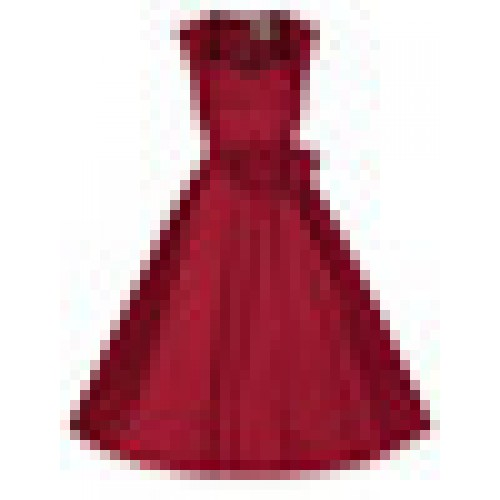 f3f7f0a8e2 Red Retro Sweetheart 50s 60s Style Pin up Rockabilly Party Swing Prom Dress