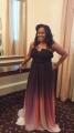 Gradiente Modern A-line Strapless Long Chiffon with Belt Prom Dress